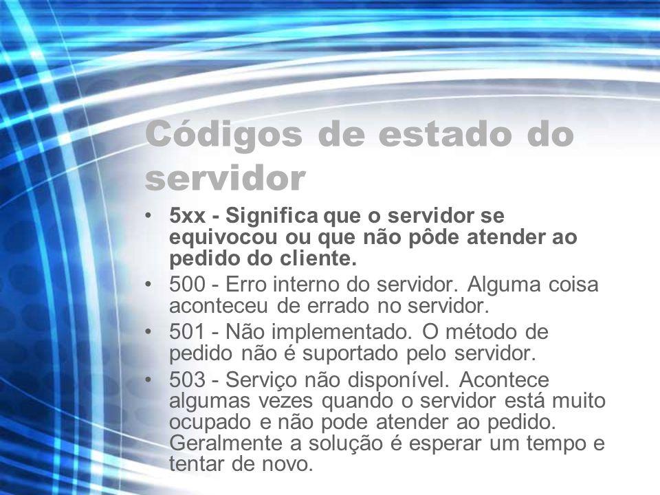 Códigos de estado do servidor