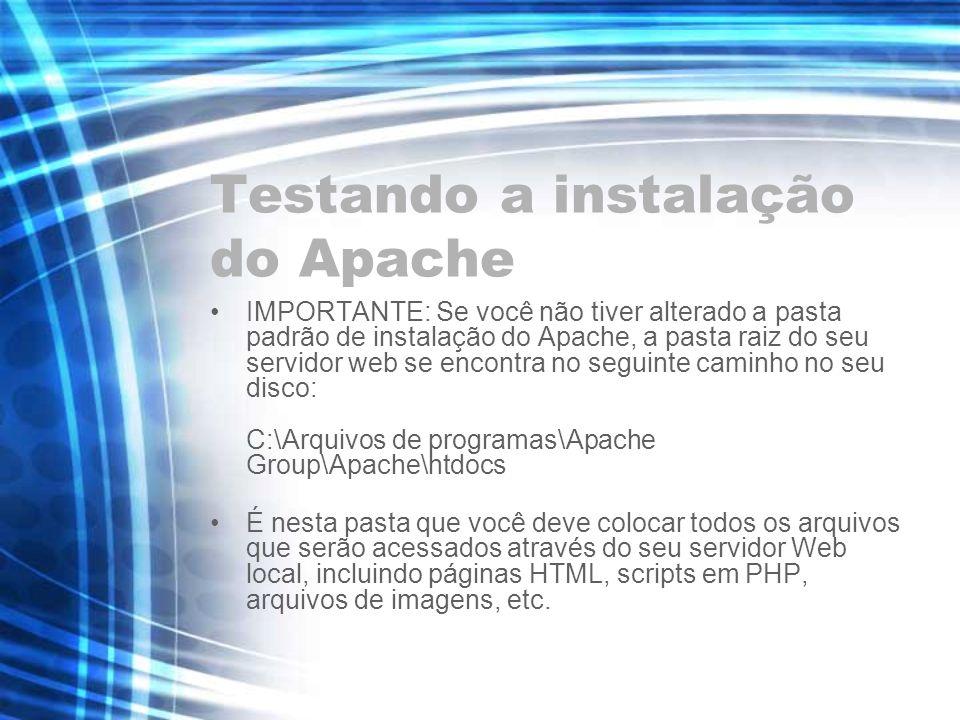 Testando a instalação do Apache