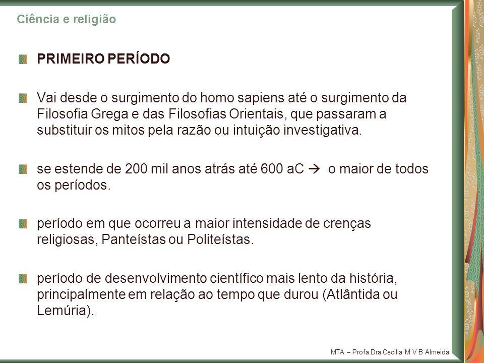 Ciência e religião PRIMEIRO PERÍODO.