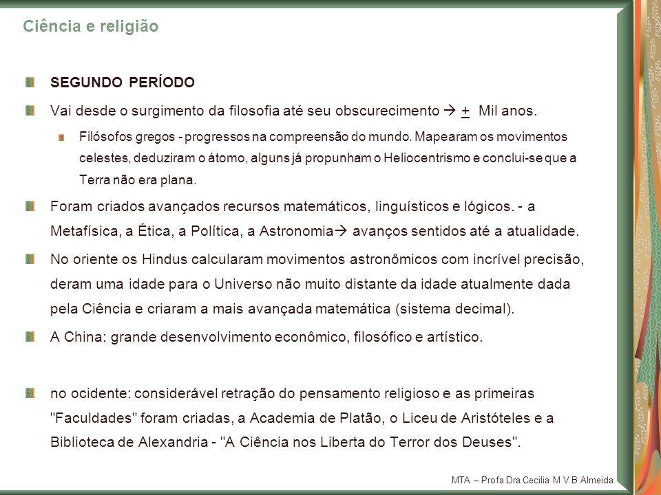 Ciência e religião SEGUNDO PERÍODO