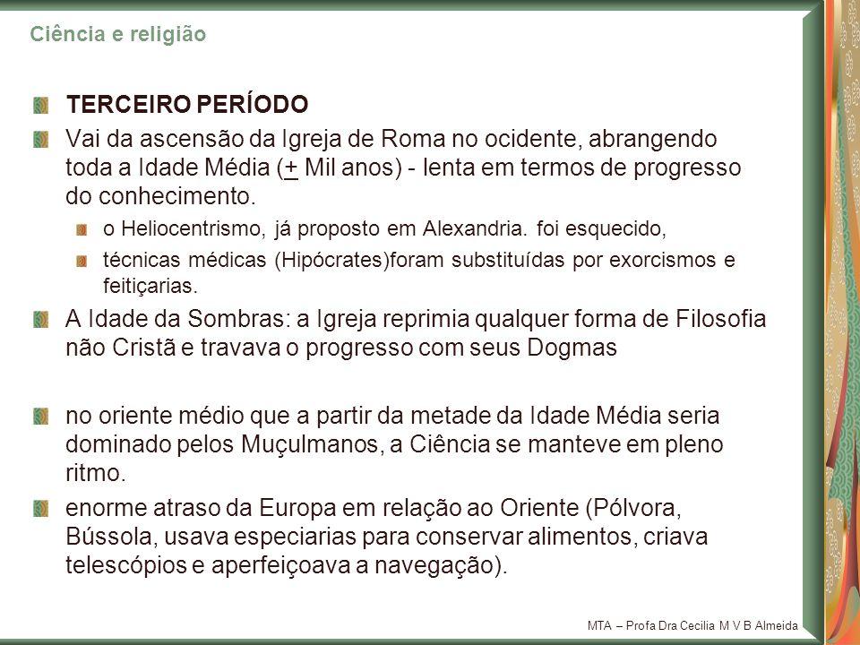 Ciência e religião TERCEIRO PERÍODO.