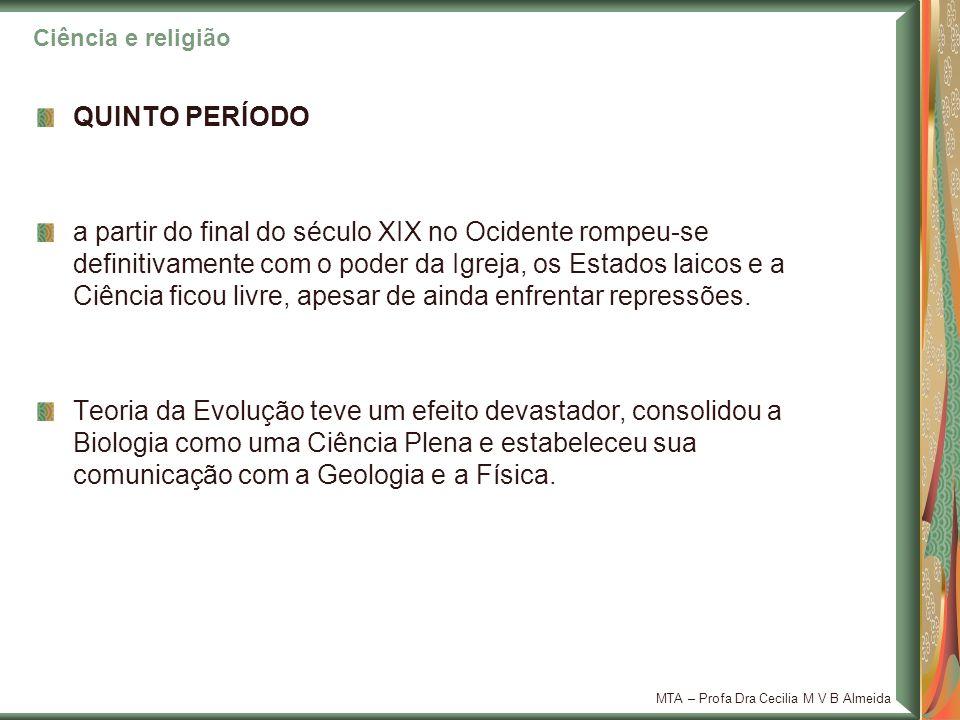 Ciência e religião QUINTO PERÍODO.