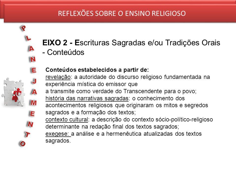 REFLEXÕES SOBRE O ENSINO RELIGIOSO REFLEXÕES SOBRE O ENSINO RELIGIOSO