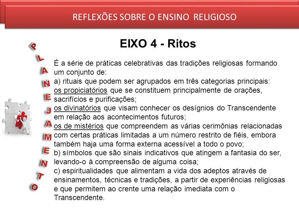 EIXO 4 - Ritos REFLEXÕES SOBRE O ENSINO RELIGIOSO
