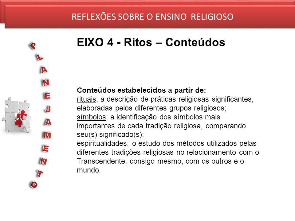 EIXO 4 - Ritos – Conteúdos