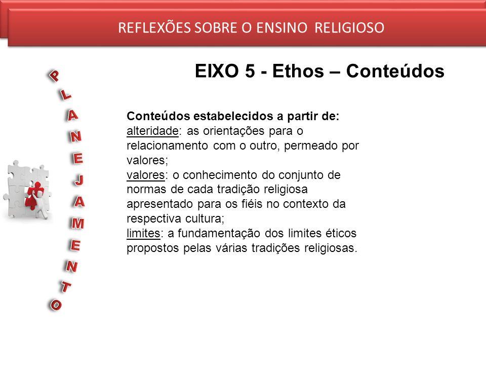 EIXO 5 - Ethos – Conteúdos