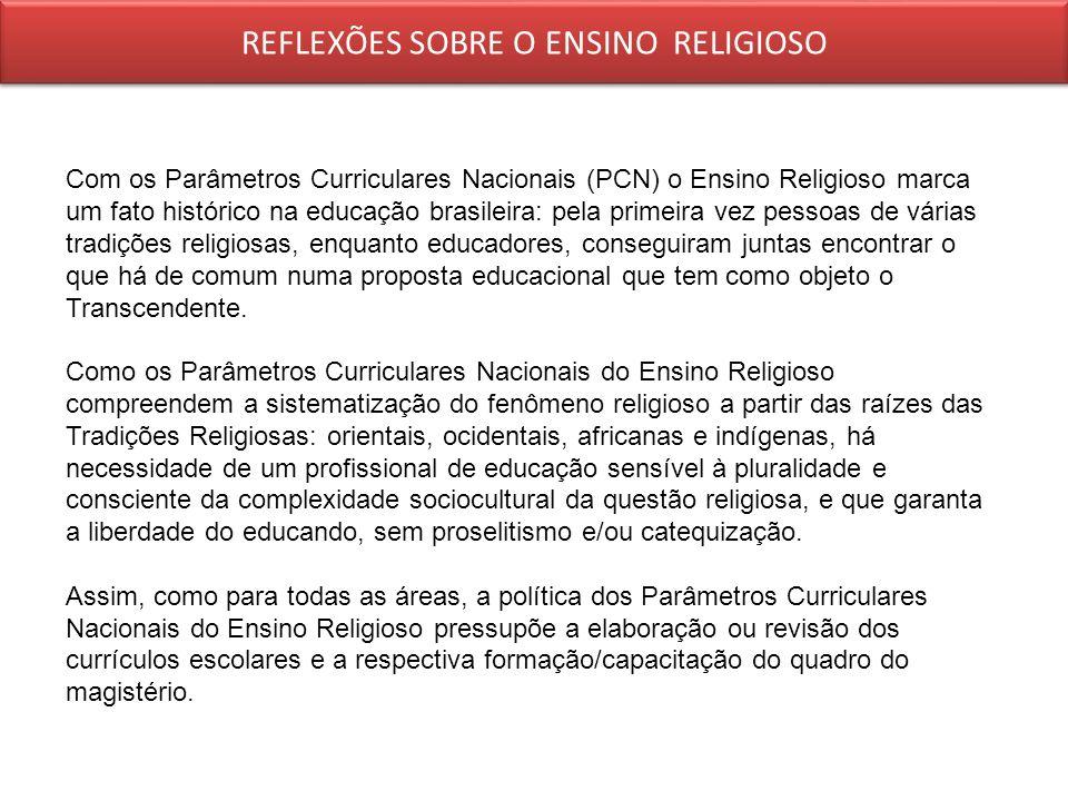 REFLEXÕES SOBRE O ENSINO RELIGIOSO