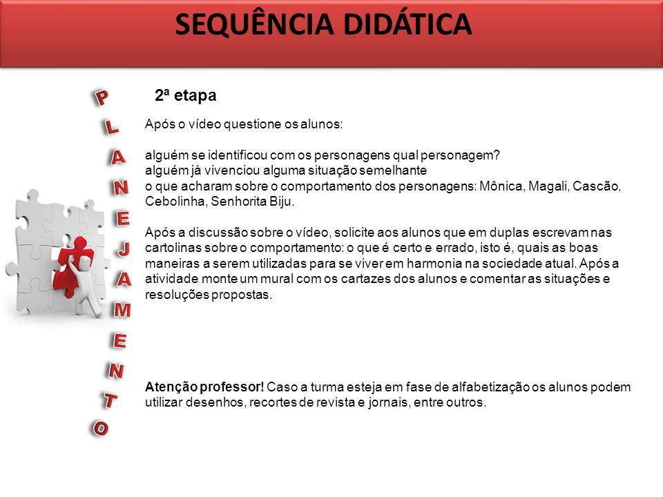 SEQUÊNCIA DIDÁTICA PLANEJAMENTO 2ª etapa