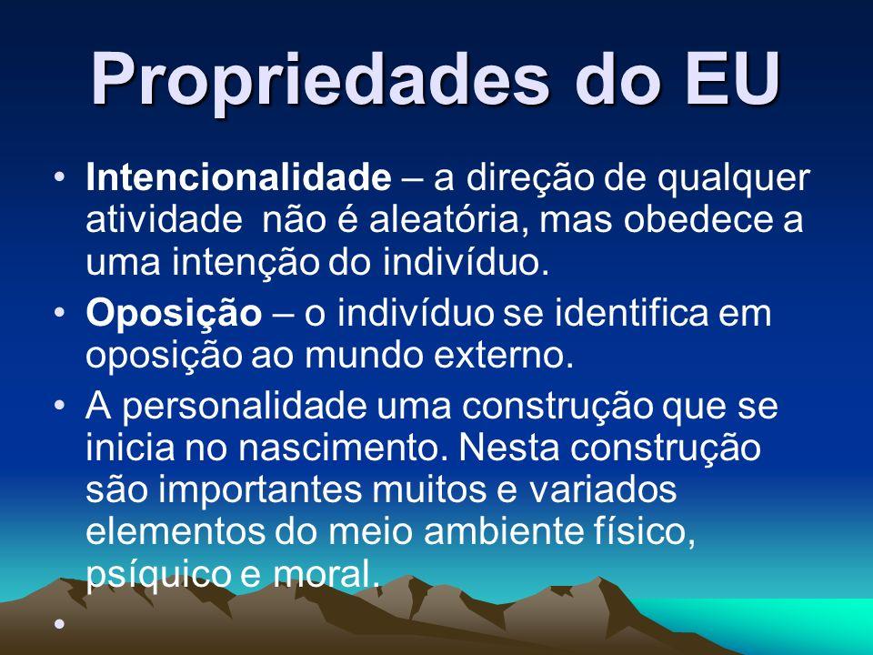Propriedades do EUIntencionalidade – a direção de qualquer atividade não é aleatória, mas obedece a uma intenção do indivíduo.