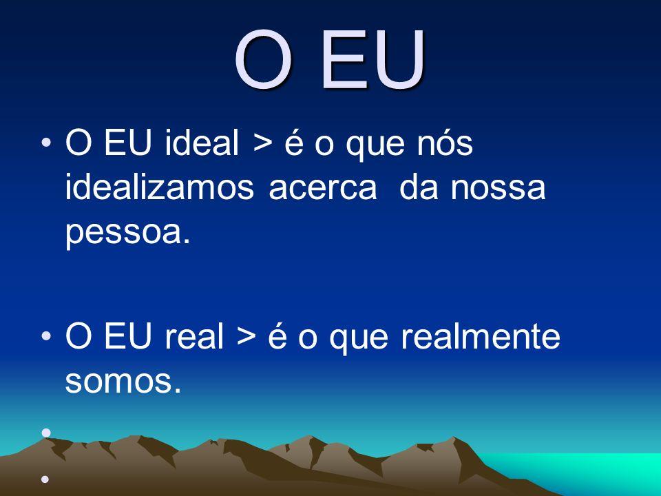 O EU O EU ideal > é o que nós idealizamos acerca da nossa pessoa.