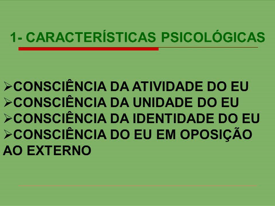 1- CARACTERÍSTICAS PSICOLÓGICAS