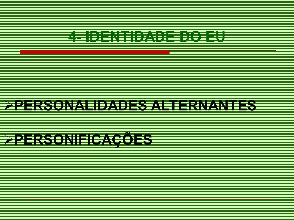 4- IDENTIDADE DO EU PERSONALIDADES ALTERNANTES PERSONIFICAÇÕES