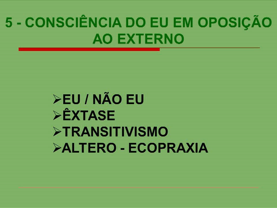 5 - CONSCIÊNCIA DO EU EM OPOSIÇÃO AO EXTERNO
