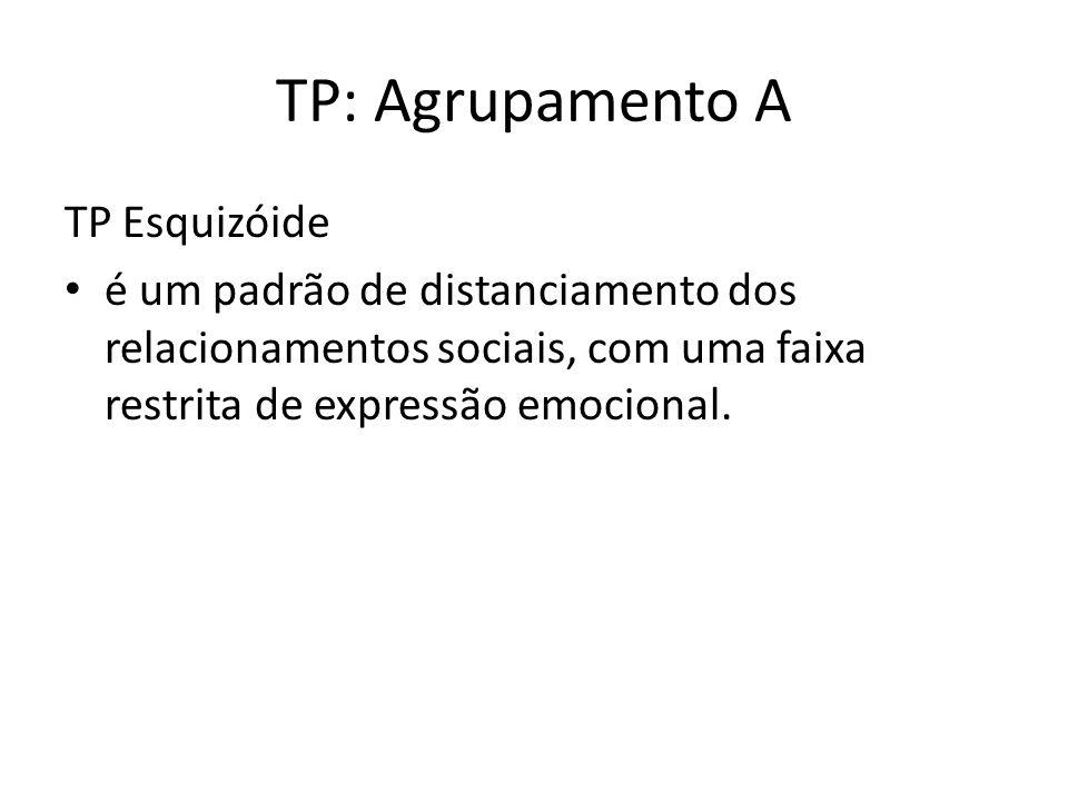 TP: Agrupamento A TP Esquizóide