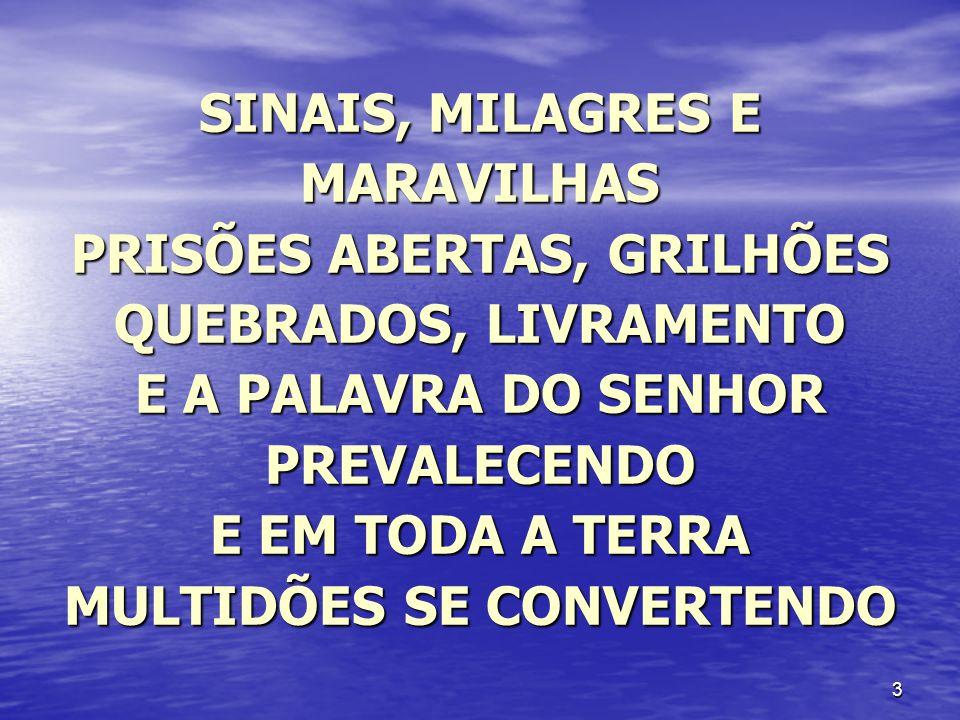 SINAIS, MILAGRES E MARAVILHAS