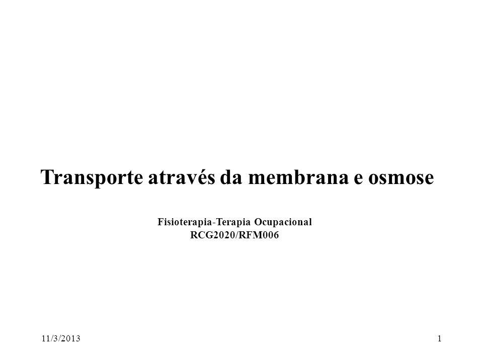 Transporte através da membrana e osmose