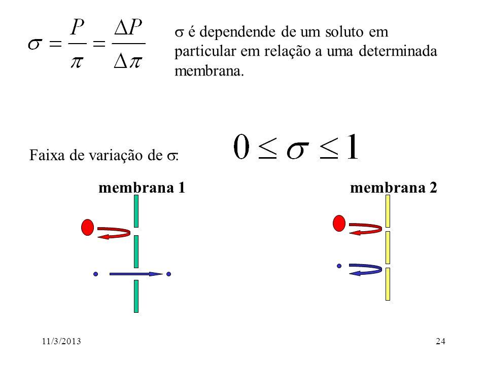 s é dependende de um soluto em particular em relação a uma determinada membrana.