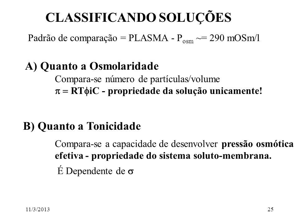 CLASSIFICANDO SOLUÇÕES