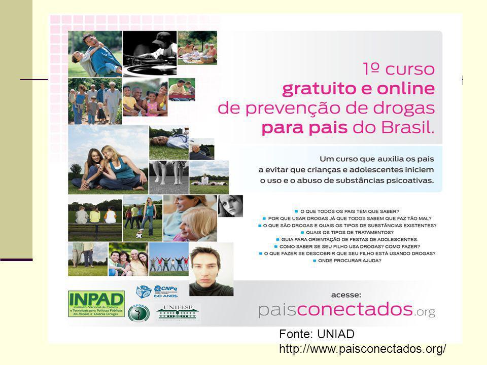 Curso Online para Pais Fonte: UNIAD.
