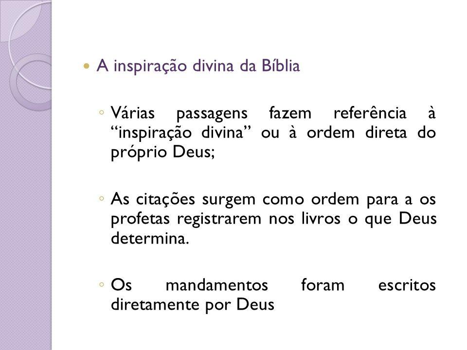 A inspiração divina da Bíblia
