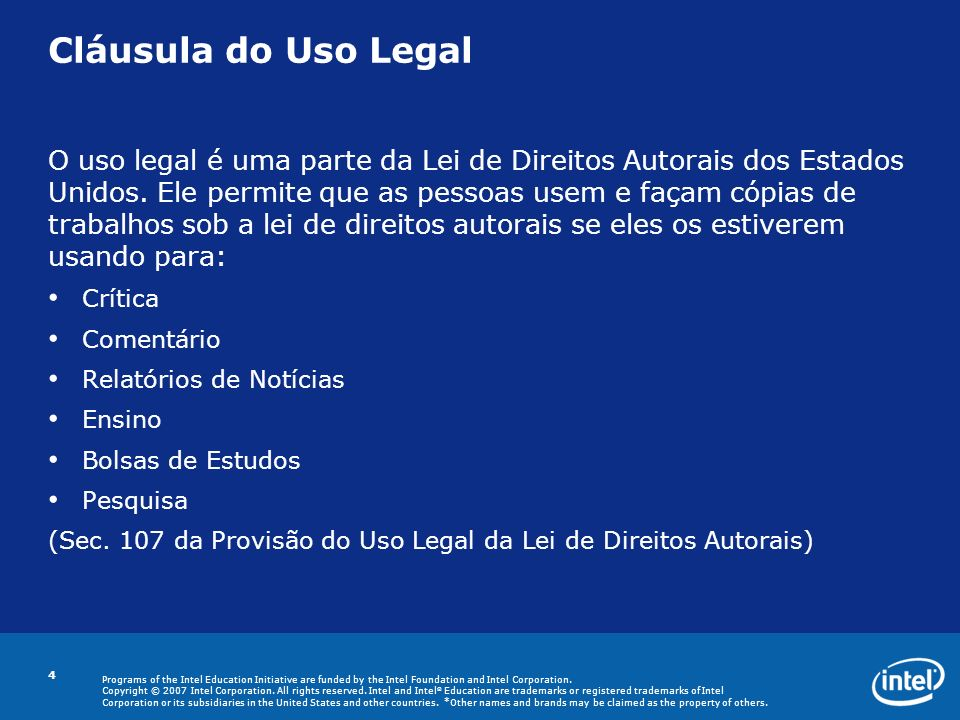 Cláusula do Uso Legal