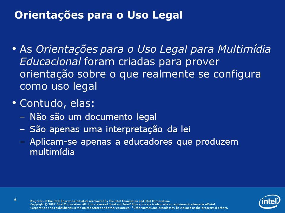 Orientações para o Uso Legal