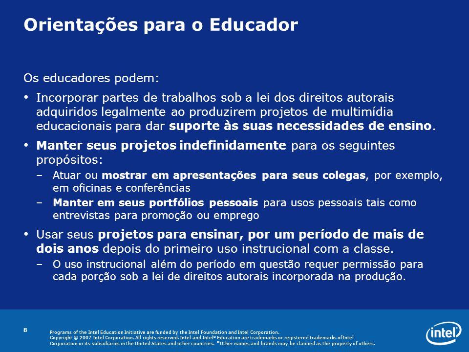 Orientações para o Educador