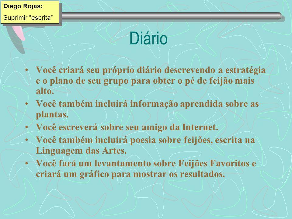 Diego Rojas: Suprimir escrita Diário.