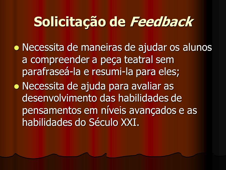 Solicitação de Feedback