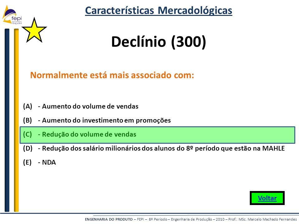 Características Mercadológicas