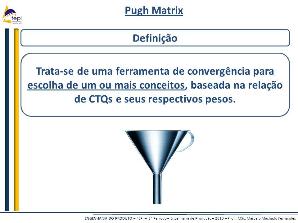 Pugh Matrix Definição.