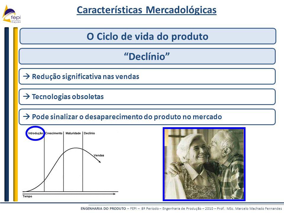 Características Mercadológicas O Ciclo de vida do produto