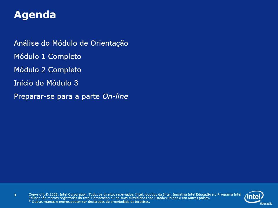Agenda Análise do Módulo de Orientação Módulo 1 Completo