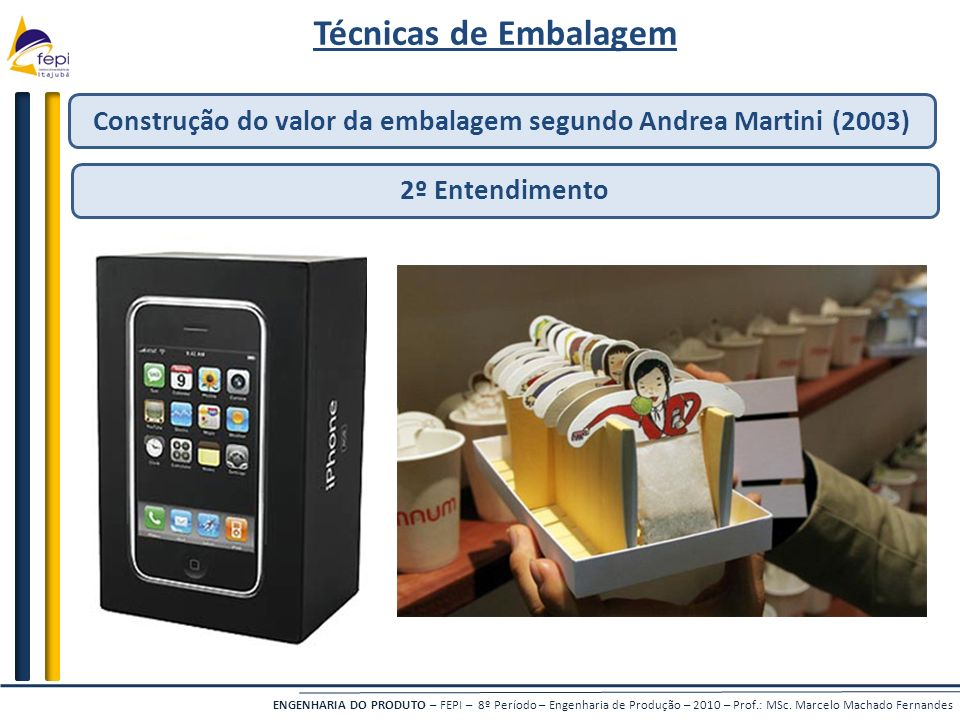 Construção do valor da embalagem segundo Andrea Martini (2003)