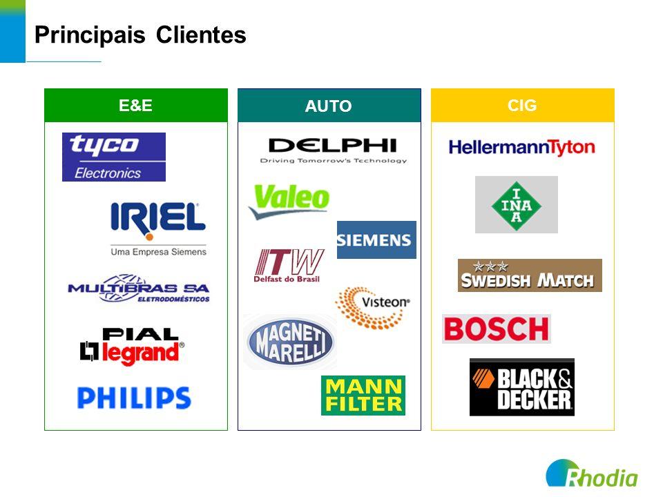 Principais Clientes E&E CIG AUTO