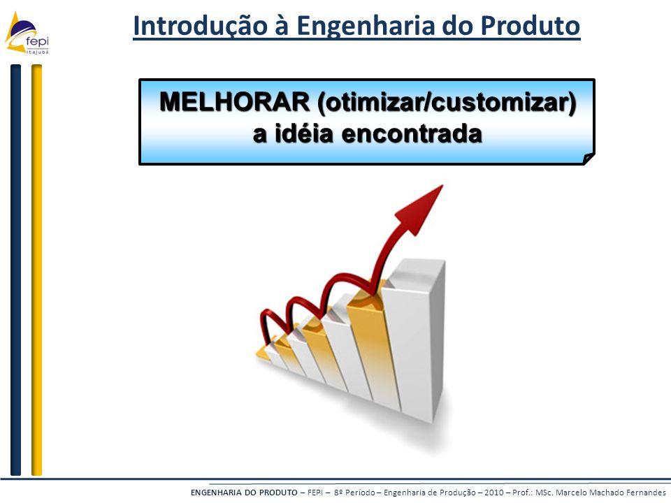 Introdução à Engenharia do Produto MELHORAR (otimizar/customizar)