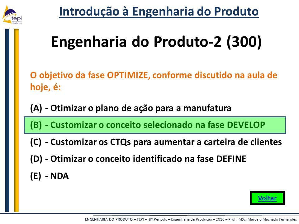 Introdução à Engenharia do Produto Engenharia do Produto-2 (300)