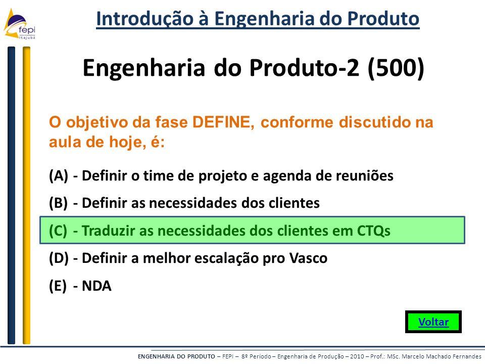 Introdução à Engenharia do Produto Engenharia do Produto-2 (500)