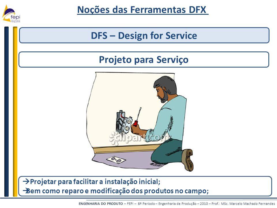 Noções das Ferramentas DFX DFS – Design for Service