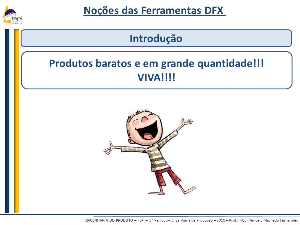Noções das Ferramentas DFX Produtos baratos e em grande quantidade!!!