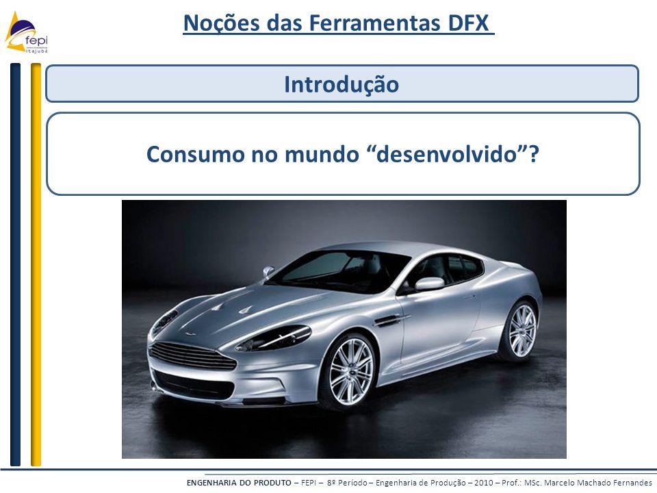 Noções das Ferramentas DFX Consumo no mundo desenvolvido
