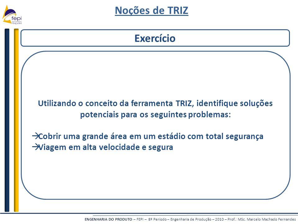 Noções de TRIZ Exercício