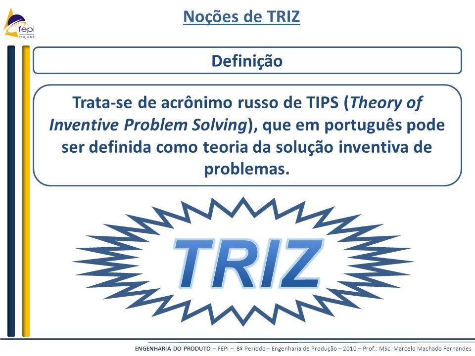 TRIZ Noções de TRIZ Definição