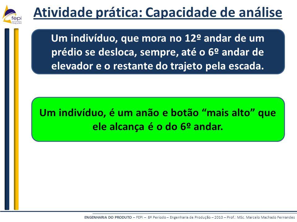 Atividade prática: Capacidade de análise