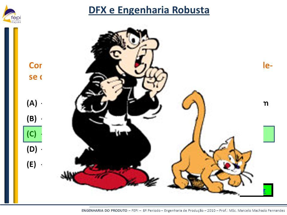 DFX e Engenharia Robusta Engenharia Robusta - 1 (500)