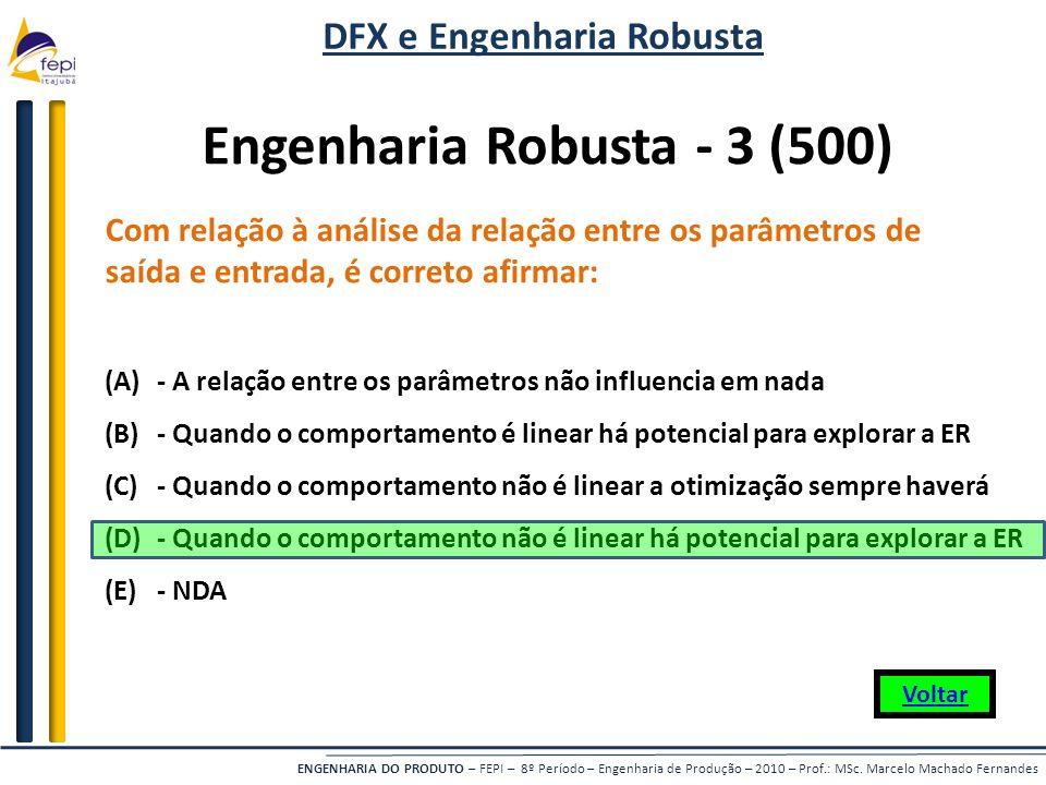 DFX e Engenharia Robusta Engenharia Robusta - 3 (500)
