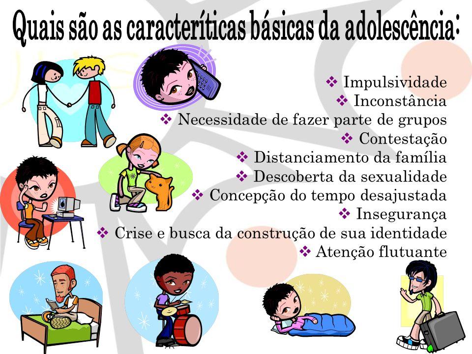 Quais são as caracteríticas básicas da adolescência: