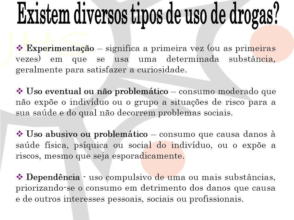 Existem diversos tipos de uso de drogas