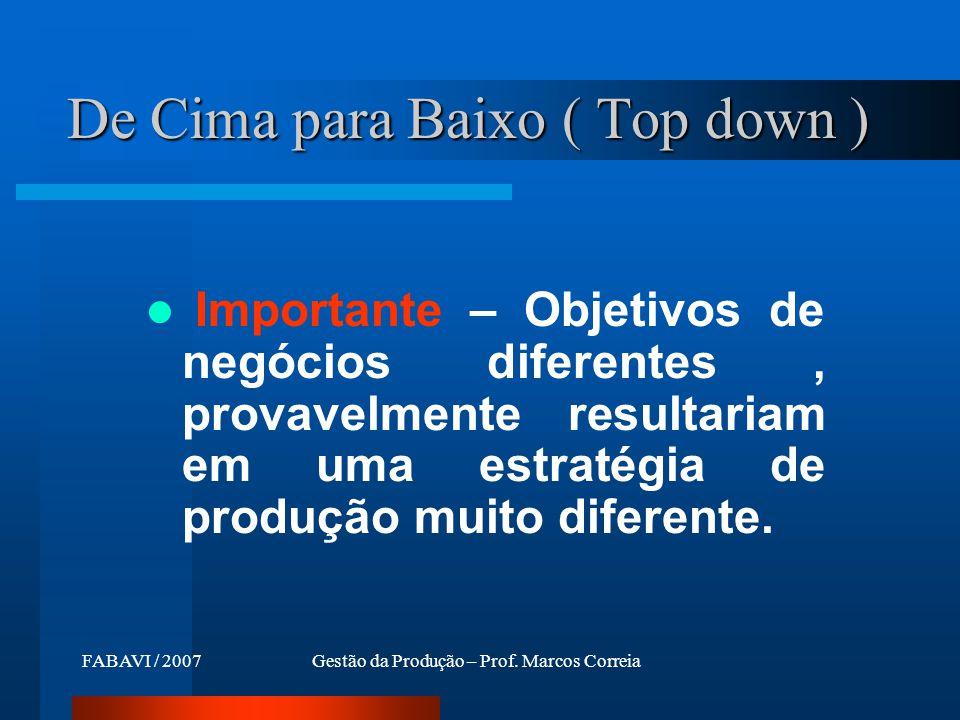 De Cima para Baixo ( Top down )