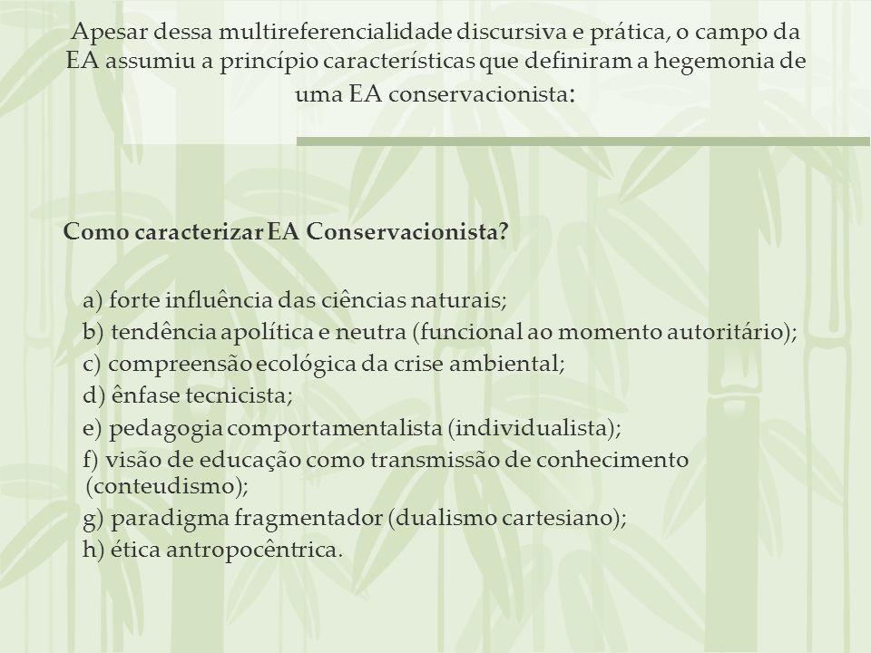 Como caracterizar EA Conservacionista